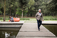Mario Schjetnan landscape urbanist in Chapultepec Park where he has been in charge of a 5 year renovation project.  Mexico City, Mexico