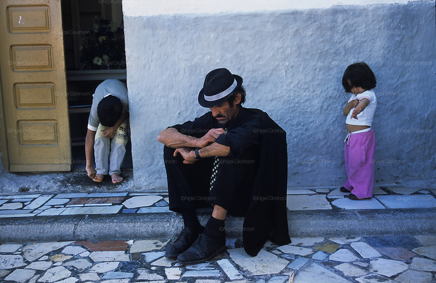 Sixty five year old Tito, a crack addict, takes a siesta. Pescadera barrio. Almeria, Spain 2001