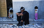 Sixty five year old Tito, a crack addict, takes a siesta. Pescadera barrio. Almeria, Spain 2001