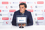 Coach Vincenzo Montella during press conference the day before King's Cup Finals match between Sevilla FC and FC Barcelona at Wanda Metropolitano in Madrid, Spain. April 20, 2018. (ALTERPHOTOS/Borja B.Hojas)
