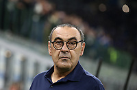 Calcio, Serie A: Inter Milano - Juventus, Giuseppe Meazza stadium, October 6 2019.<br /> Juventus' coach Maurizio Sarri prior to the Italian Serie A football match between Inter and Juventus at Giuseppe Meazza (San Siro) stadium, October 6, 2019.<br /> UPDATE IMAGES PRESS/Isabella Bonotto