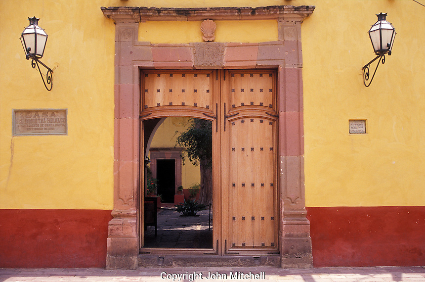 The Museo Casa de Hidalgo, former home of Mexican revolutionary hero Miguel Hidalgo in the town of Dolores Hidalgo, Mexico