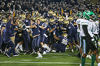 Annapolis, MD - October 26, 2019: Navy Midshipmen celebrates after the game between Tulane and Navy at  Navy-Marine Corps Memorial Stadium in Annapolis, MD.   (Photo by Elliott Brown/Media Images International)