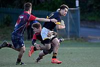 College Rugby - Wellington College v Hutt International Boys' School at Wellington College, Wellington, New Zealand on Saturday 26 May 2018.<br /> Photo by Masanori Udagawa. <br /> www.photowellington.photoshelter.com