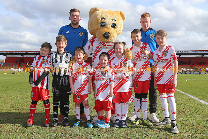 Boro Bear and the mascots during Stevenage vs Notts County, Sky Bet EFL League 2 Football at the Lamex Stadium on 4th March 2017
