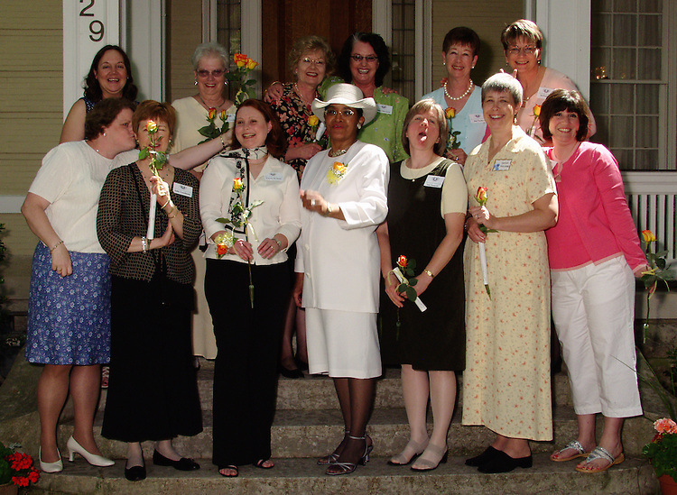 16986OU Women's Club Group Potrait with Mrs. McDavis: Photos by Doug Peterson