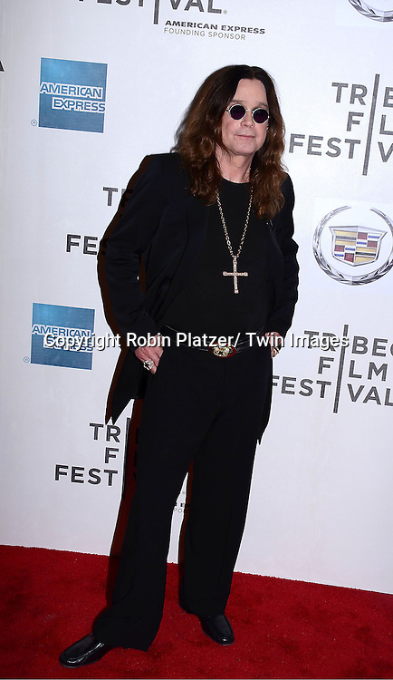 "Ozzy Osbourne attending the Tribeca Film Festival screening of.""God Bless Ozzy Osbourne"" on april 24, 2011 at The BMCC/TPAC in New York City."