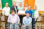 Pictured at Kerry County Council headquarters, Aras an Chontae on Monday were colleagues for Roy Guerin, who is heading to London to compete in the powerlifting category of the Paralympic Games 2012. Pictured, front row, from left: Mayor of Kerry, Terry O'Brien and Roy Guerin. Back row, left to right: Ian Brick, Michael McMahon, Eamonn Cunningham, Leanne Ryan, Eileen Davis and Lisa O'Carroll.