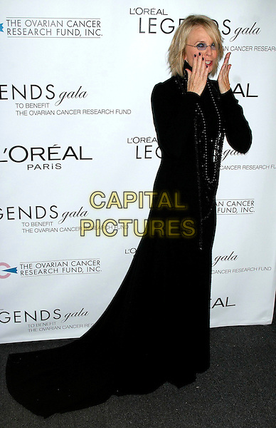DIANE KEATON.The L'Oreal Legends Gala Benefit For Ovarian Cancer Research Fund at the American Museum of Natural History, New York, NY, USA..November 8th, 2006.Ref: IW.full length black top poloneck skirt dress hands .www.capitalpictures.com.sales@capitalpictures.com.©Ian Wilson/Capital Pictures
