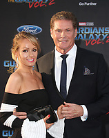 HOLLYWOOD, CA - April 19: David Hasselhoff, Hayley Roberts, At Premiere Of Disney And Marvel's &quot;Guardians Of The Galaxy Vol. 2&quot; At The Dolby Theatre  In California on April 19, 2017. <br /> CAP/MPI/FS<br /> &copy;FS/MPI/Capital Pictures