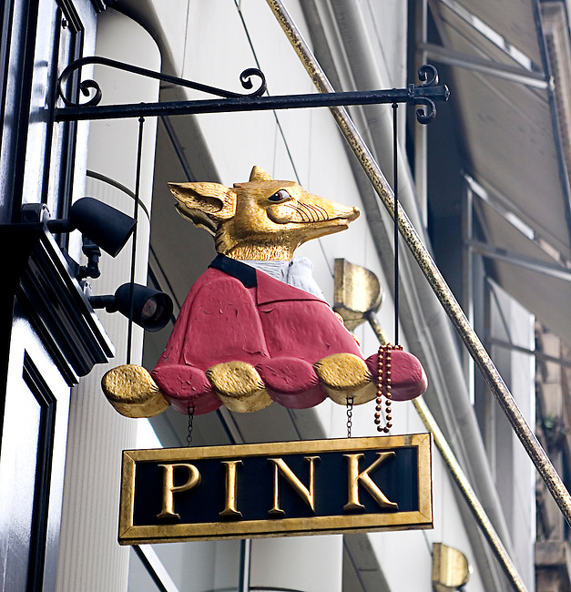 Thomas Pink, Sign, Post Street, exterior, San Francisco, California