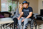 Josef Urbanszky from Killarney who uses an Exoskeleton in Cork pictured with his Girlfriend Amy Doyle.