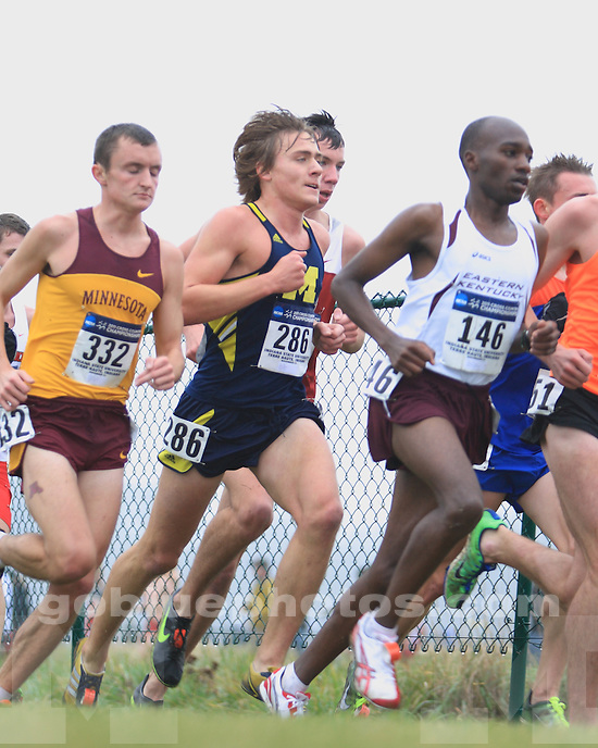The University of Michigan men's cross country team finished 20th at the 2011 NCAA Championships in Terra Haute, Ind., on November 21, 2011.