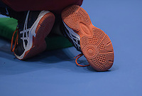 Rotterdam, Netherlands, December 15, 2016, Topsportcentrum, Lotto NK Tennis,  ballboy shoes <br /> Photo: Tennisimages/Henk Koster