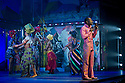 "London, UK. 21/07/2011.  ""FELA!"" opens at Sadler's Wells. FELA! is a provocative hybrid of dance, theatre and music exploring the extravagant world of Afrobeat legend Fela Kuti. Sahr Ngaujah as Fela. Photo credit: Jane Hobson"