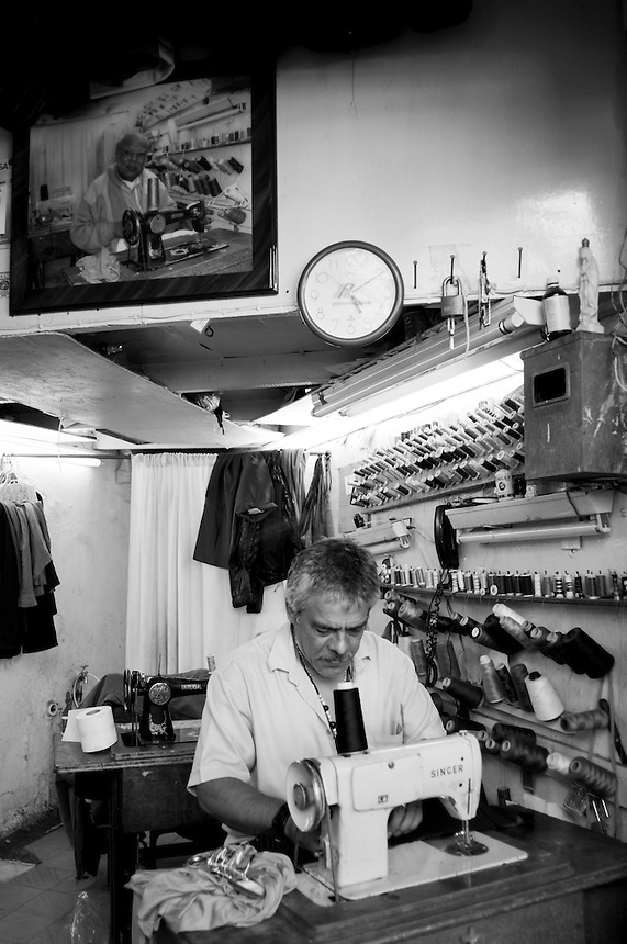 Sastrero / Tailor on the Glorieta Citlaltépetl has been there for over 50 years, the tailor's father recently passed away leaving the business to his son.