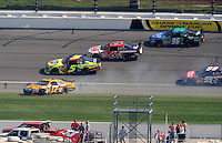 Sept. 28, 2008; Kansas City, KS, USA; Nascar Sprint Cup Series driver Matt Kenseth (17) spins during the Camping World RV 400 at Kansas Speedway. Mandatory Credit: Mark J. Rebilas-