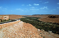 World Civilization:  Morocco--Ziz River Valley.  A wadi, or dry riverbed.  Photo '91.