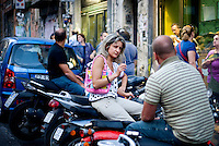 Smokers in Naples, Italy in 2009..PHOTOS/ MATT NAGER