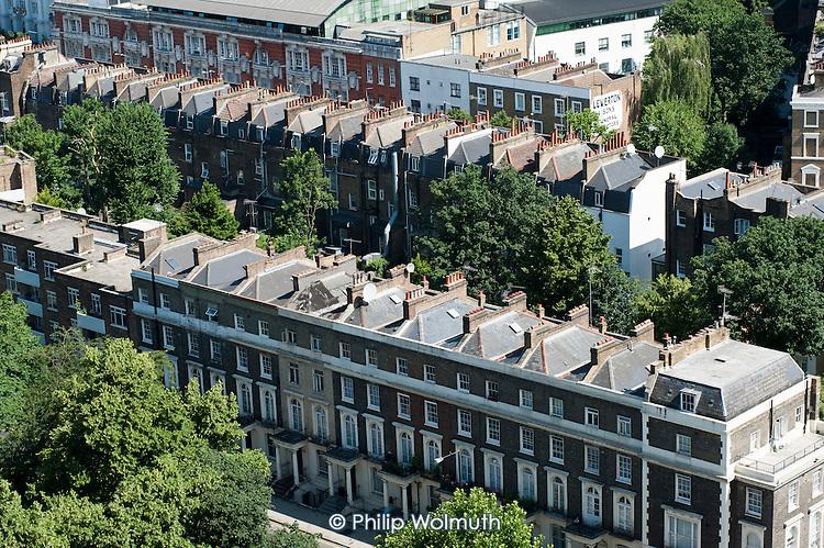 Victorial terrace housing in Camden Town, London.