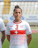 20180305 - LARNACA , CYPRUS : Swiss Caroline Muller pictured during a women's soccer game between Switzerland and Wales , on monday 5 March 2018 at GSZ Stadium in Larnaca , Cyprus . This is the third game in group A for Switzerland and Wales during the Cyprus Womens Cup , a prestigious women soccer tournament as a preparation on the World Cup 2019 qualification duels. PHOTO SPORTPIX.BE   DAVID CATRY