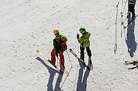 Skipiste, Station H&ouml;fatsblick auf dem Nebelhorn bei Oberstdorf im Allg&auml;u, Bayern, Deutschland<br /> piste, Hillstation H&ouml;fatsblick,  Mt.Nebelhorn near Oberstdorf, Allg&auml;u, Bavaria, Germany
