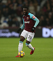 West Ham United's Arthur Masuaku<br /> <br /> Photographer Rob Newell/CameraSport<br /> <br /> The Premier League - West Ham United v West Bromwich Albion - Tuesday 2nd January 2018 - London Stadium - London<br /> <br /> World Copyright &copy; 2018 CameraSport. All rights reserved. 43 Linden Ave. Countesthorpe. Leicester. England. LE8 5PG - Tel: +44 (0) 116 277 4147 - admin@camerasport.com - www.camerasport.com