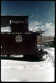 Caboose #0503 by engine house - Chama<br /> C&amp;TS  Chama, NM