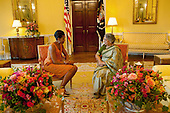Washington, DC - November 24, 2009 -- First Lady Michelle Obama meets with Mrs. Gursharan Kaur in the Yellow Oval Room of the White House, Tuesday, November 24, 2009..Mandatory Credit: Samantha Appleton - White House via CNP