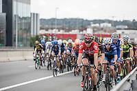 Peloton led by Kris Boeckmans (BEL/Lotto-Soudal)<br /> <br /> 51th GP Jef 'Poeske' Scherens 2017 <br /> Leuven - Leuven (13local laps/153.7km)