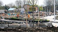 Landscaping work at Centennial Park