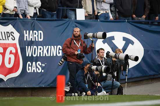 mike terry, jaren wilkey, mark johnston, jason olson. BYU vs. TCU college football Saturday, October 24 2009 in Provo.