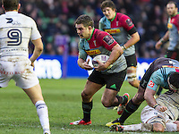 Nick Easter in action, Harlequins v Cardiff Blues in a European Challenge Cup match at Twickenham Stoop, Twickenham, London, England, on 17th January 2016