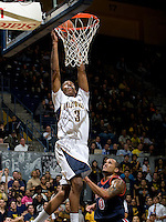 Tyrone Wallace of California dunks the ball during the game against Pepperdine at Haas Pavilion in Berkeley, California on November 13th, 2012.  California defeated Pepperdine, 79-62.