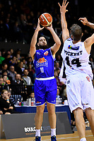 Saints&rsquo; Jordan Ngatai in action during the NBL - Cigna Saints v Bay Hawks at TSB Bank Arena, Wellington, New Zealand on Friday 12 April 2019. <br />
