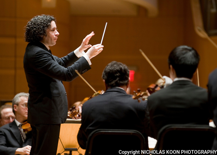 Gustavo Dudamel 3-5-11 The Renee and Henry Segerstrom Concert Hall.