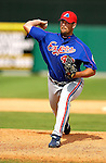 25 March 2003: MLB Pitcher Dan Smith in Action. Mandatory Credit: Ed Wolfstein Photo