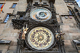 CZECH REPUBLIC, Prague, Astronomical clock tower in old town