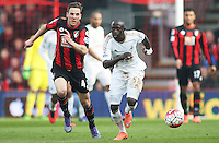 Modou Barrow of Swansea City during the Barclays Premier League match between AFC Bournemouth and Swansea City played at The Vitality Stadium, Bournemouth on March 11th 2016