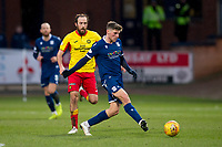 8th February 2020; Dens Park, Dundee, Scotland; Scottish Championship Football, Dundee versus Partick Thistle; Ross Callachan of Dundee and Stuart Bannigan of Partick Thistle
