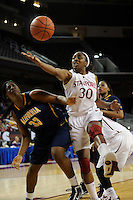 LOS ANGELES, CA - MARCH 13:  Nnemkadi Ogwumike during Stanford's 64-44 win over California in the Pac-10 Tournament at the Staples Center on March 13, 2010 in Los Angeles, California.