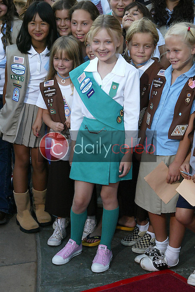 Dakota Fanning<br />at a ceremony to be inducted into the Girl Scouts of the USA. AMC Burbank 16 Theatre, Burbank,CA. 09-22-05<br />Jason Kirk/DailyCeleb.com 818-249-4998