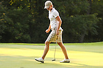 Sofie Andersson reacted after making her putt on the 11th hole during Alliance Bank Golf Classic in Syracuse NY.
