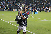 Kansas City, KS - Wednesday September 20, 2017: Latif Blessing and Sporting Kansas City 2017 U.S. Open Cup Champions during the 2017 U.S. Open Cup Final Championship game between Sporting Kansas City and the New York Red Bulls at Children's Mercy Park.