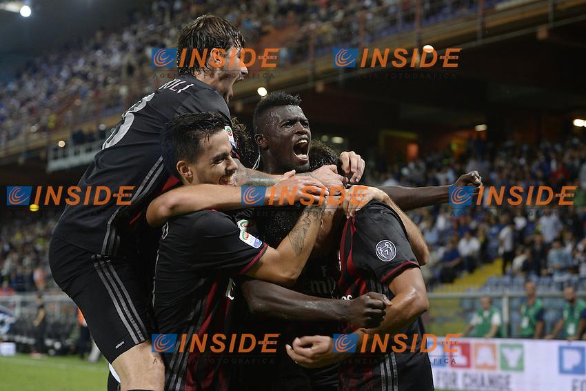 esultanza gol Carlos Bacca Milan Goal celebration <br /> Genova 16-09-2016 Stadio Marassi <br /> Football Calcio Serie A <br /> Sampdoria - Milan <br /> Foto ImageSport/Insidefoto