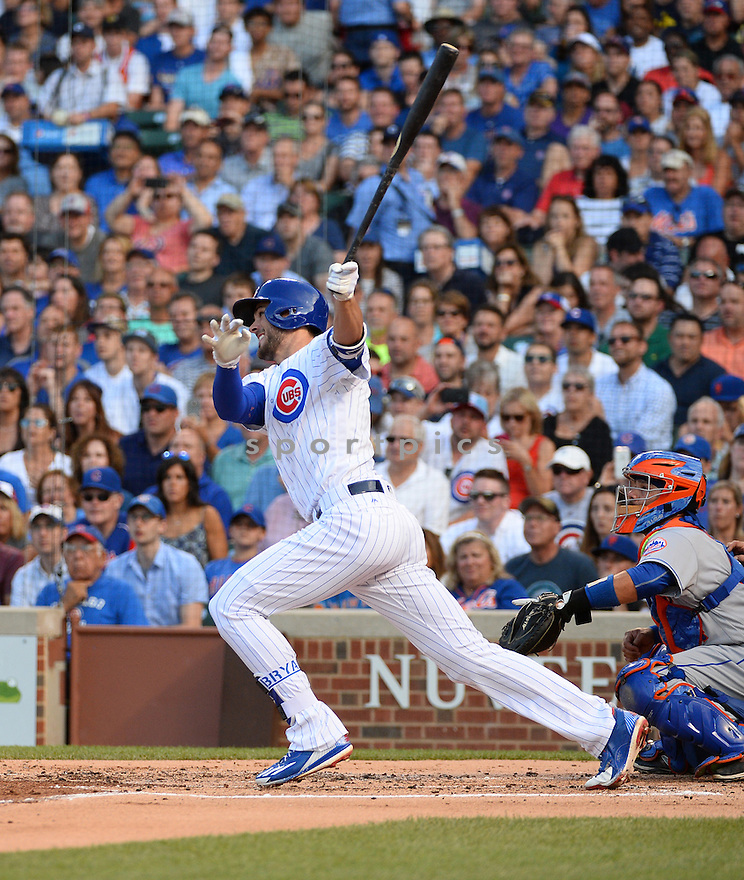 Chicago Cubs Kris Bryant (17) during a game against the New York Mets on July 19, 2016 at Wrigley Field in Chicago, IL. The Mets beat the Cubs 2-1.