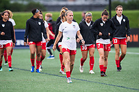 Boston, MA - Friday July 07, 2017: Alyssa Mautz and the Chicago Reds Stars during a regular season National Women's Soccer League (NWSL) match between the Boston Breakers and the Chicago Red Stars at Jordan Field.