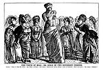 """The Venus of Milo; or, Girls of Two Different Periods. Chorus. """"Look at her big foot! Oh, what a waist: - and what a ridiculous little head! - and NO chignon! She's no lady! Oh, what a fright!"""""""