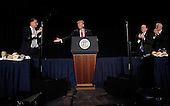 United States President Donald Trump delivers remarks at the National Prayer Breakfast February 2, 2017 in Washington, DC. Every U.S. president since Dwight Eisenhower has addressed the annual event.<br /> Credit: Win McNamee / Pool via CNP