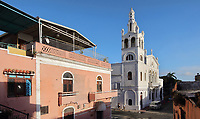 Santuario Nuestra Senora de la Altagracia, a catholic cathedral built 1503-52, the first and oldest christian building in the New World, built under Nicolas de Ovando, in the Zona Colonial or Colonial Zone of Santo Domingo, Dominican Republic, in the Caribbean. Santo Domingo's Colonial Zone is listed as a UNESCO World Heritage Site. Picture by Manuel Cohen
